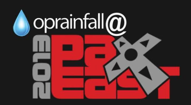 oprainfall at PAX East 2013