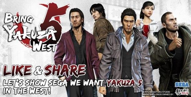 Yakuza 5 fan campaign banner