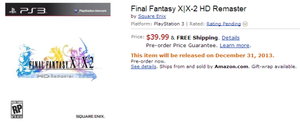 Final Fantasy X HD Amazon