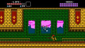 Shovel Knight attacking