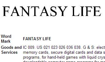 Fantasy Life trademark 1