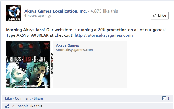 aksys games facebook