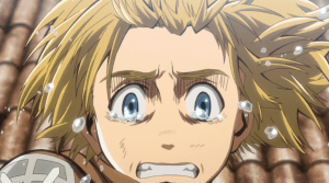 Attack on Titan Armin crying