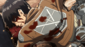 Attack on Titan Eren leg crash