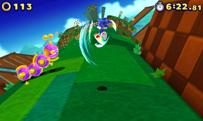 Sonic Battles the Worm.