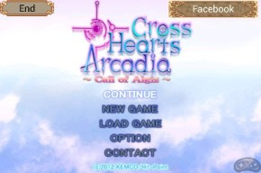 Cross Hearts Arcadia - Menu