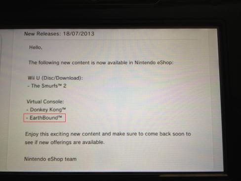 EarthBound Wii U EU eShop Page