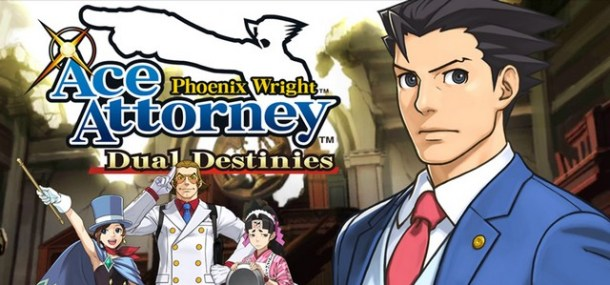 Phoenix Wright: Ace Attorney - Dual Destinies logo with Phoenix | Nintendo Download