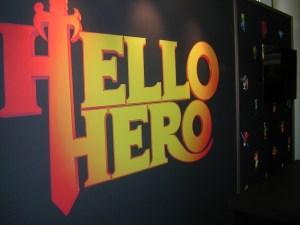 Hello Hero logo on wall