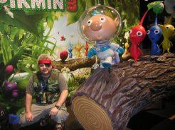 Josh cosplaying as Old Snake at Pikmin 3 exhibit