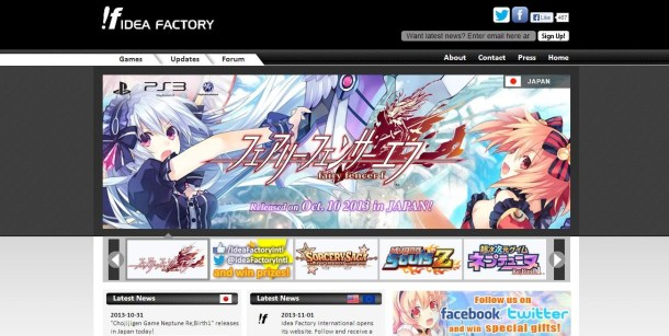 Click to Visit the Official Idea Factory International Website