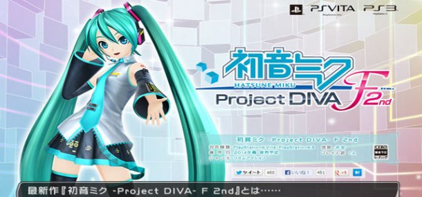 Hatsune Miku: Project Diva F 2nd | oprainfall
