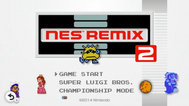 NES Remix 2—Title Screen | oprainfall