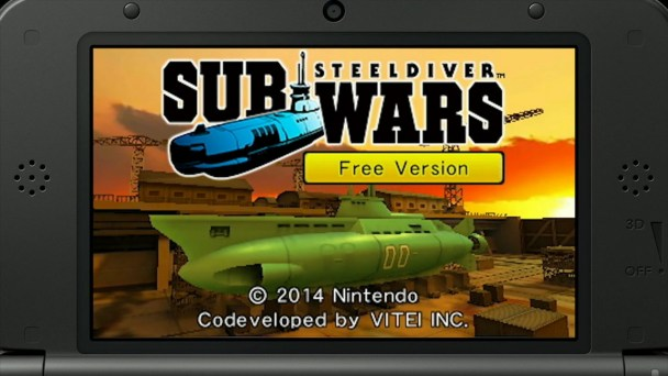 Steel Diver: Sub Wars (Free Version) Title Screen