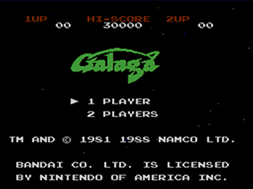 Galaga (NES) | Title Screen