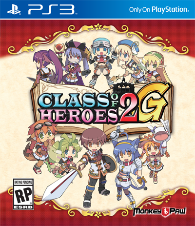 Class of Heroes 2G - PS3 Cover | oprainfall