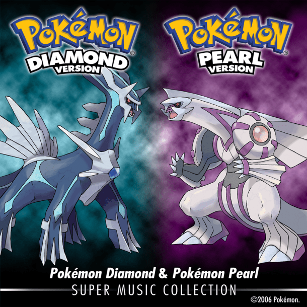 Pokémon Diamond & Pokémon Pearl: Super Music Collection - Cover Art | oprainfall