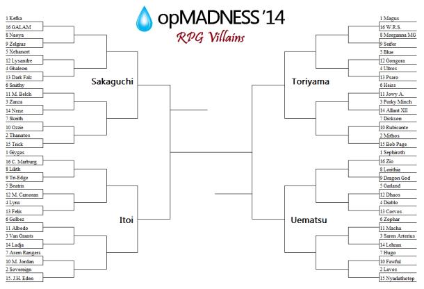 opMADNESS '14 RPG Villain Bracket—First Round | oprainfall