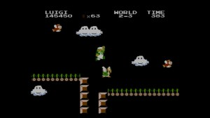 Super Mario Bros.: The Lost Levels | Luigi Attacking a Paratroopa