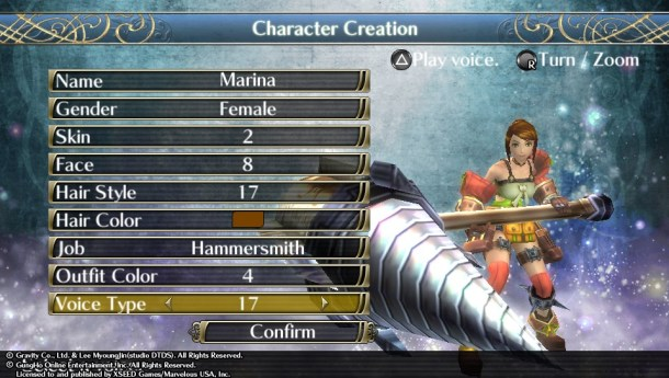 Ragnarok Odyssey ACE | Character Creation