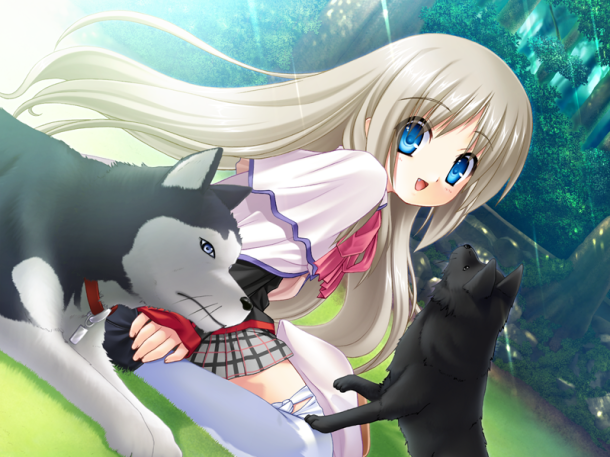 Kud Playing on the Grass | Little Busters!