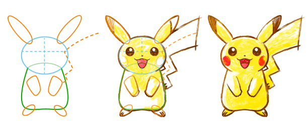 Pokemon Art Academy - Drawing Pikachu