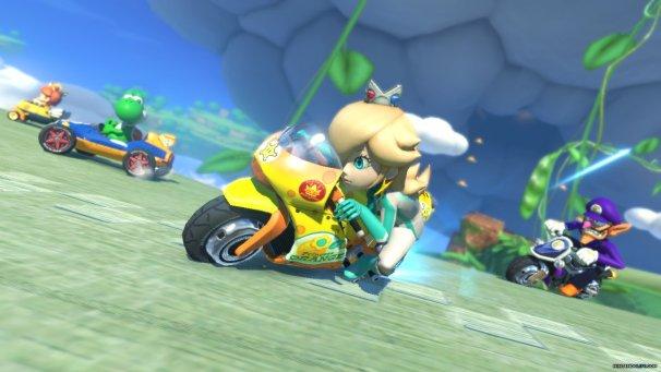 Rosalina on a Motorcycle | Mario Kart 8