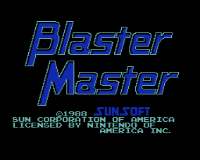 Master Blaster - Title Screen
