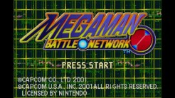 VC Mega Man Battle Network - Title Screen