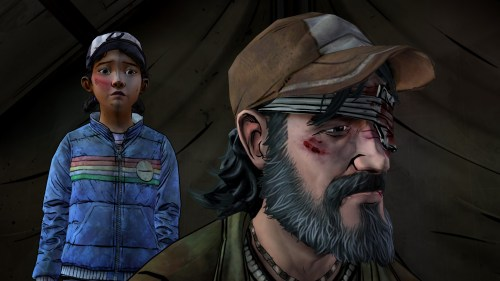 walking dead - clem and kenny