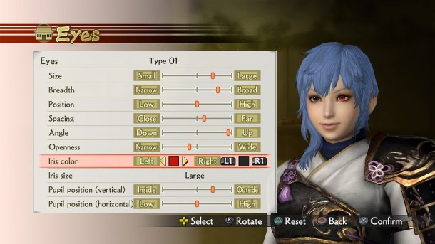 Samurai Warriors 4 - Create Character (1)