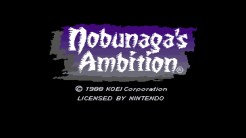 Nobunaga's Ambition - Title Screen