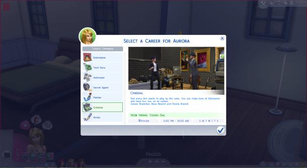 The Sims 4 | Job Panel