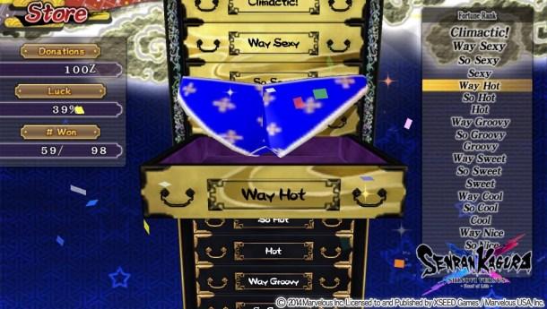 Senran Kagura Shinovi Versus | Lingere Lottery