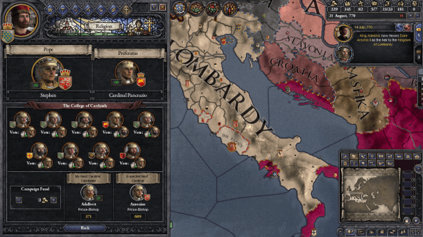 Crusader Kings II | College of Cardinals