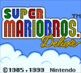 Super Mario Bros. Deluxe - Title Screen