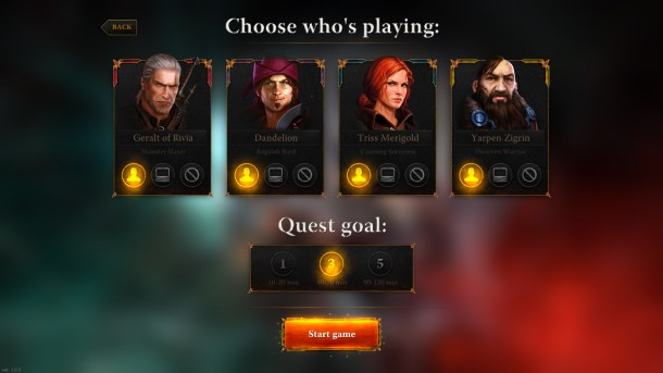 The Witcher Adventure Game | Characters