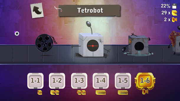 Tetrobot and Co. | Level Select Screen