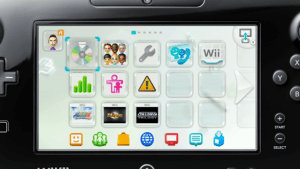 Wii U Menu with Wii Games