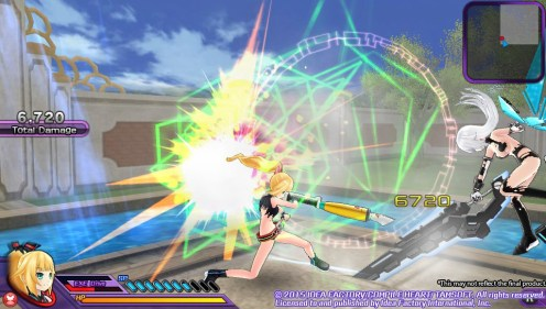 Neptunia Action Unleashed Noire Whacked