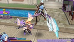 Neptunia Action Unleashed Purple vs White