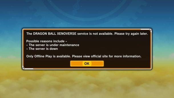 Dragon Ball XenoVerse | Online Error