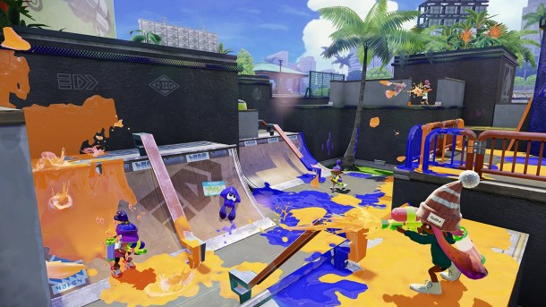 Splatoon is a very messy game, with paint splattered everywhere!