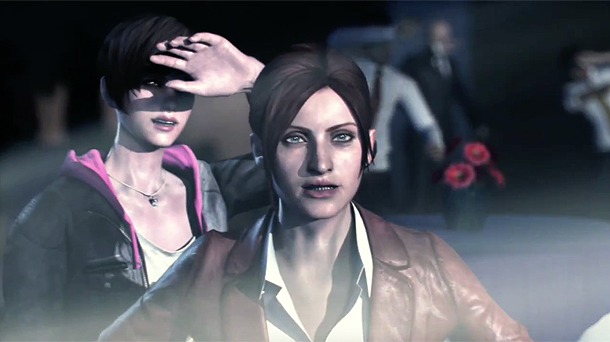 Resident Evil Revelations 2 | Claire and Moira at Party