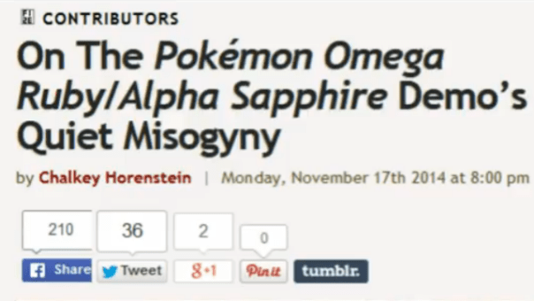 Pokemon Quiet Misogyny Article Title