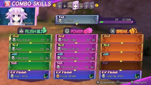 Neptunia Re;Birth 3 | Combo Skills