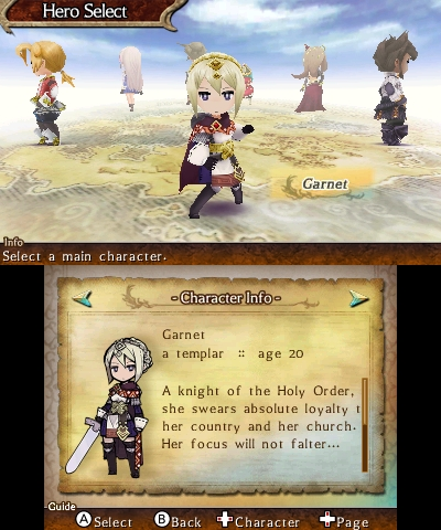 Legend of Legacy | Hero Select