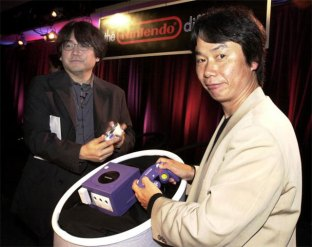 Iwata - With Miyamoto and the GameCube
