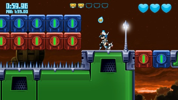 Mighty Switch Force! Hyper Drive Edition | Red and Blue Blocks