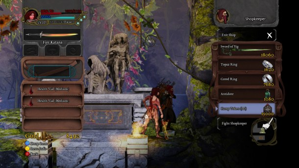 Abyss Odyssey | Inventory Screen